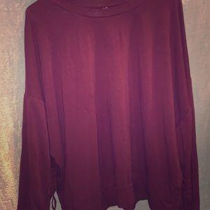 Fabletics XL Maroon Longsleve Pullover
